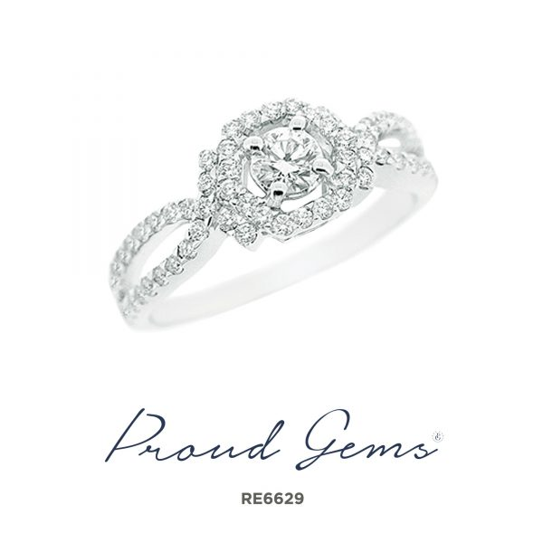 6629RE W 600x600 - แหวนหมั้นเพชร RE6629