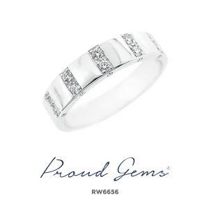 6656RW W 300x300 - แหวนเพชรผู้ชาย RW6656