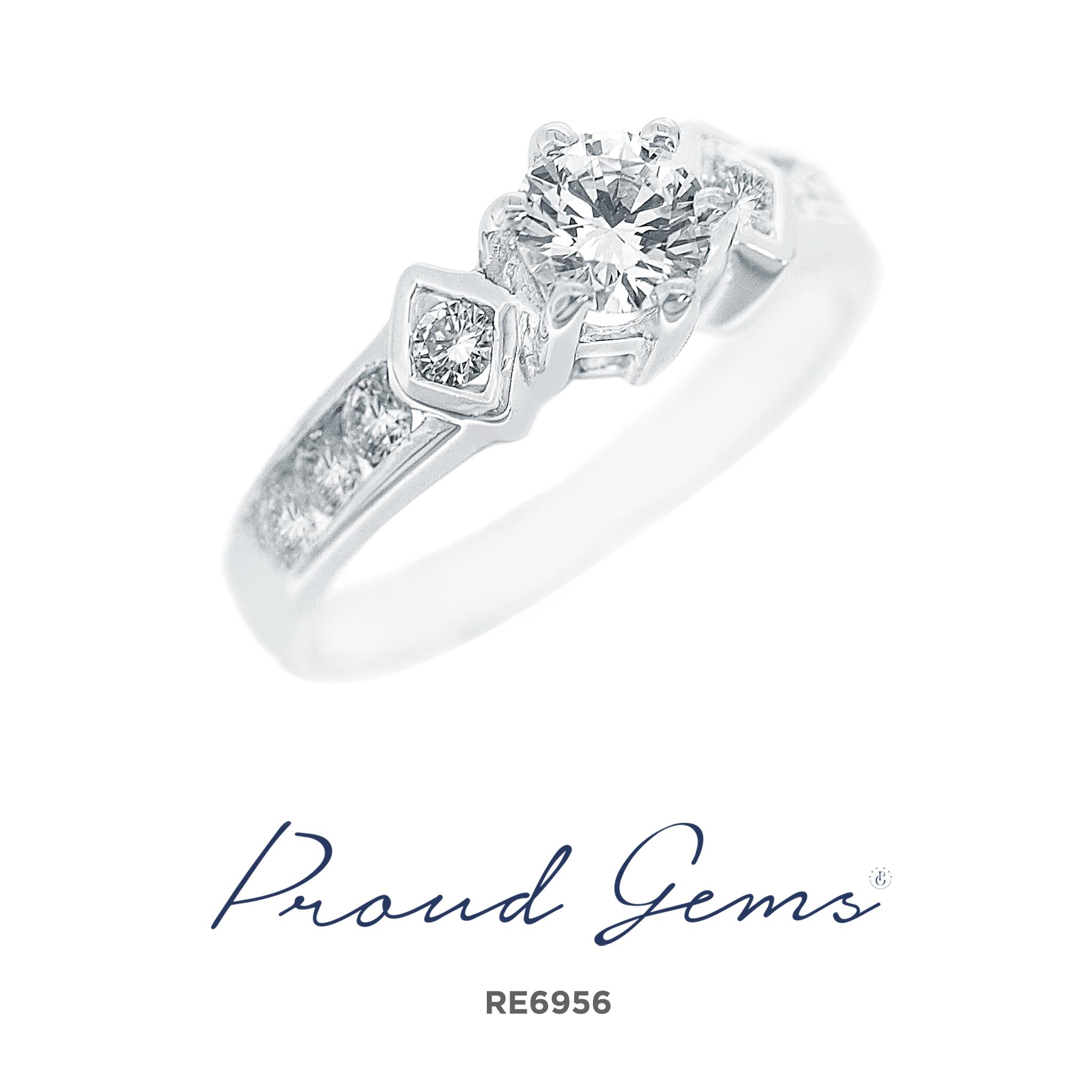 6956RE1 1 - แหวนหมั้นเพชร RE6956