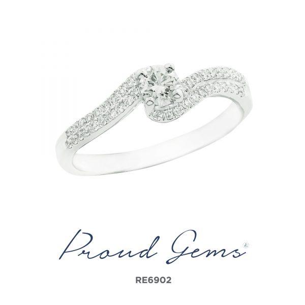 6902RE W 600x600 - แหวนหมั้นเพชร RE6902