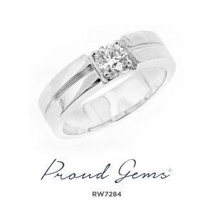 7284RW W 300x300 - แหวนเพชรผู้ชาย RW7284