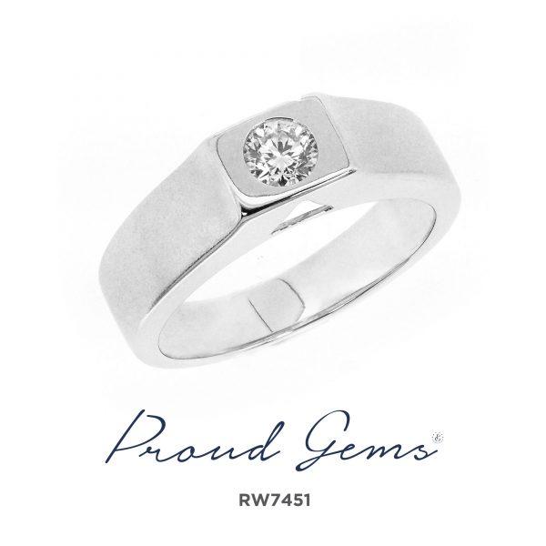 7451RW W 600x600 - แหวนหมั้นผู้ชาย RW7451