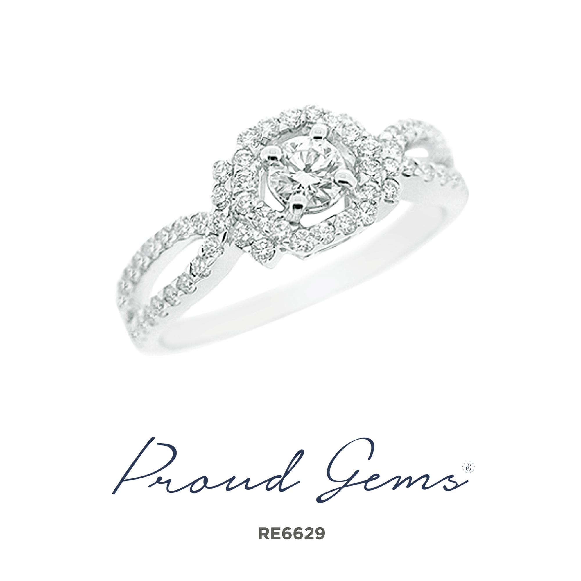 6629RE1 1 - แหวนหมั้นเพชร RE5282