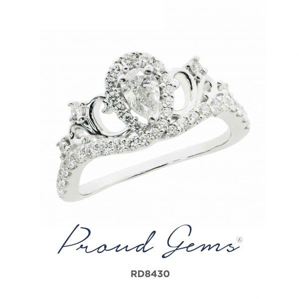 8430RD W 600x600 - แหวนเพชร  RD8430
