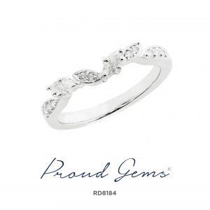 8184RD W 300x300 - แหวนเพชร  RD8184