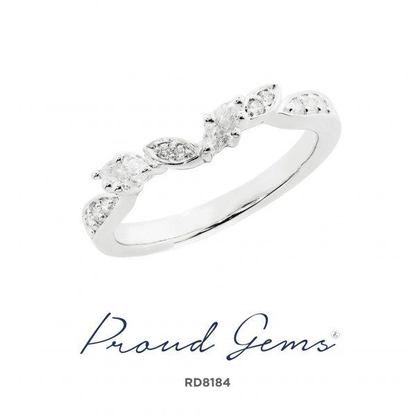 8184RD W 600x600 - แหวนเพชร  RD8184