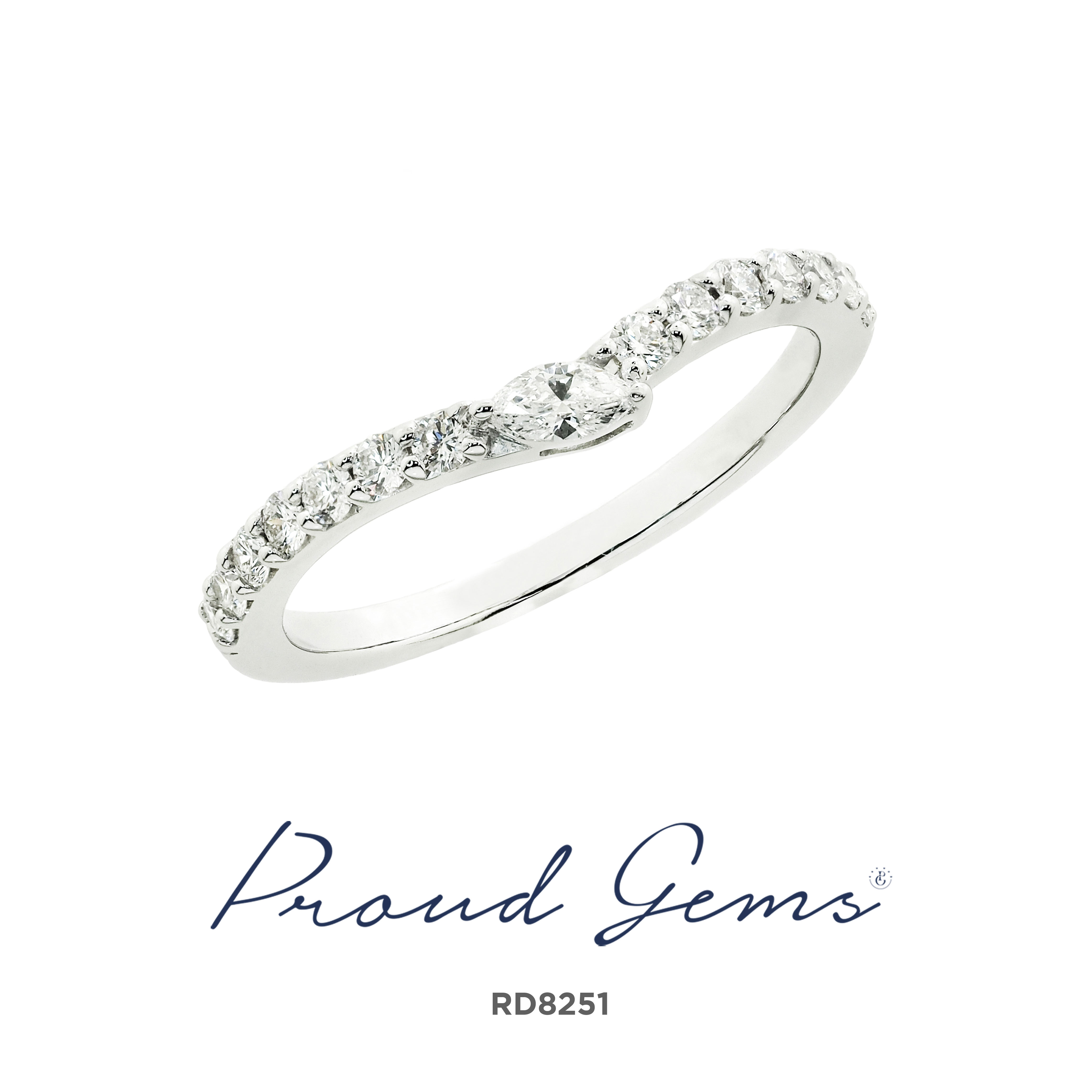 8251RD W 300x300 - แหวนเพชร  RD8251
