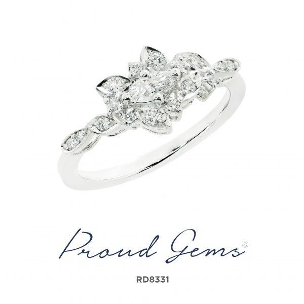 8331RD W 600x600 - แหวนเพชร  RD8331