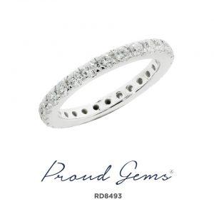 8493RD W 300x300 - แหวนเพชร  RD8493
