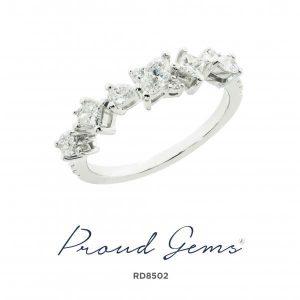 8502RD W 300x300 - แหวนเพชร  RD8502