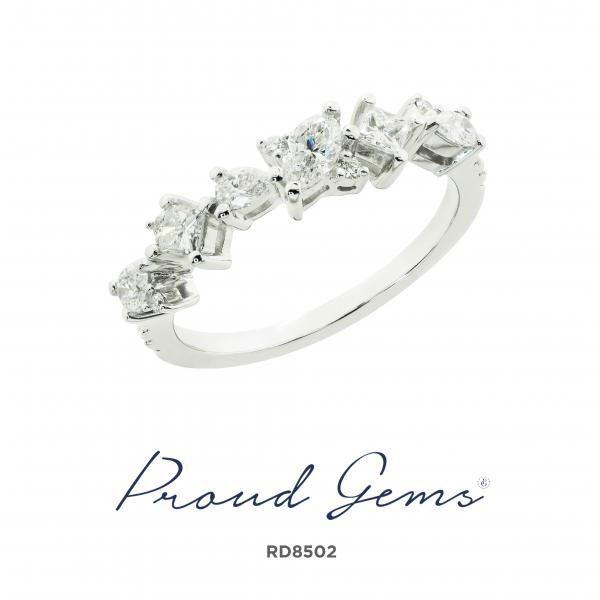 8502RD W 600x600 - แหวนเพชร  RD8502
