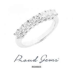 8665RD W 300x300 - แหวนเพชร  RD8665