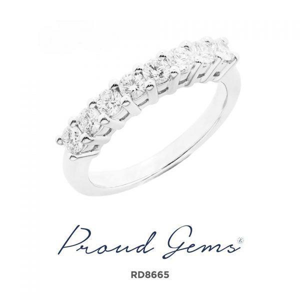 8665RD W 600x600 - แหวนเพชร  RD8665
