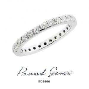 8666RD W 300x300 - แหวนเพชร  RD8666