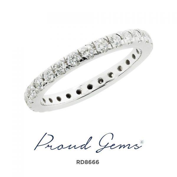 8666RD W 600x600 - แหวนเพชร  RD8666