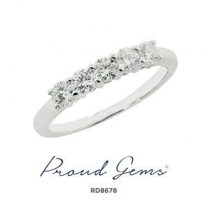 8678RD W 300x300 - แหวนเพชร  RD8678