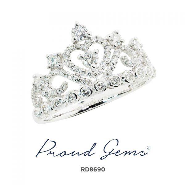 8690RD W 600x600 - แหวนเพชร  RD8690