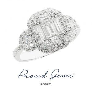 8731RD W 300x300 - แหวนเพชร  RD8731