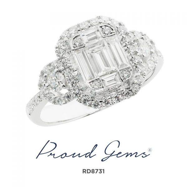 8731RD W 600x600 - แหวนเพชร  RD8731