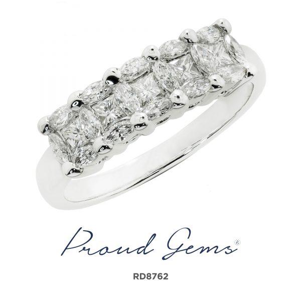 8762RD W 600x600 - แหวนเพชร  RD8762