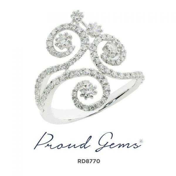 8770RD W 600x600 - แหวนเพชร  RD8770