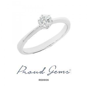 8906RE W 300x300 - แหวนเพชร  RE8906