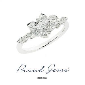 8984RD W 300x300 - แหวนเพชร  RD8984