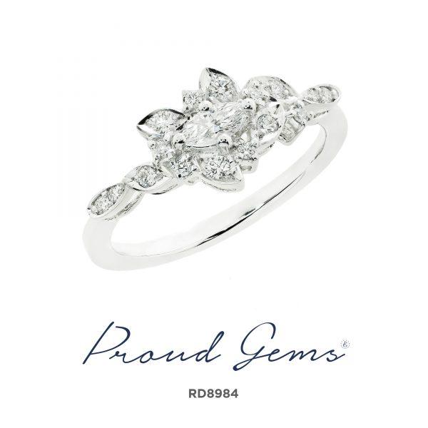 8984RD W 600x600 - แหวนเพชร  RD8984