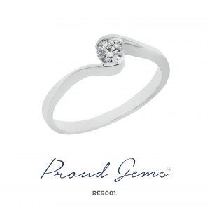 9001RE 300x300 - แหวนหมั้นเพชร RE9001