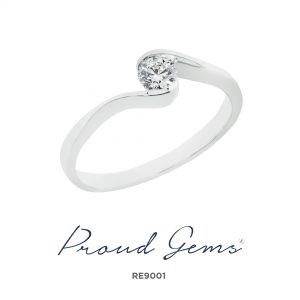9001RE W 300x300 - แหวนหมั้นเพชร RE9001