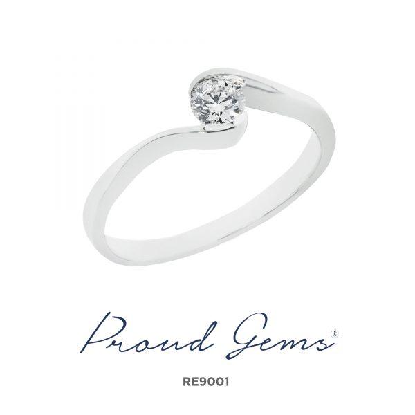 9001RE W 600x600 - แหวนหมั้นเพชร RE9001