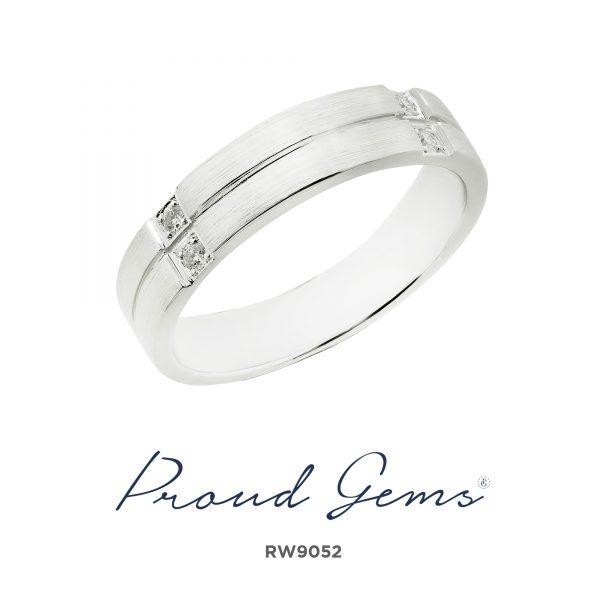 9052RW W 600x600 - แหวนเพชรผู้ชาย RW9052