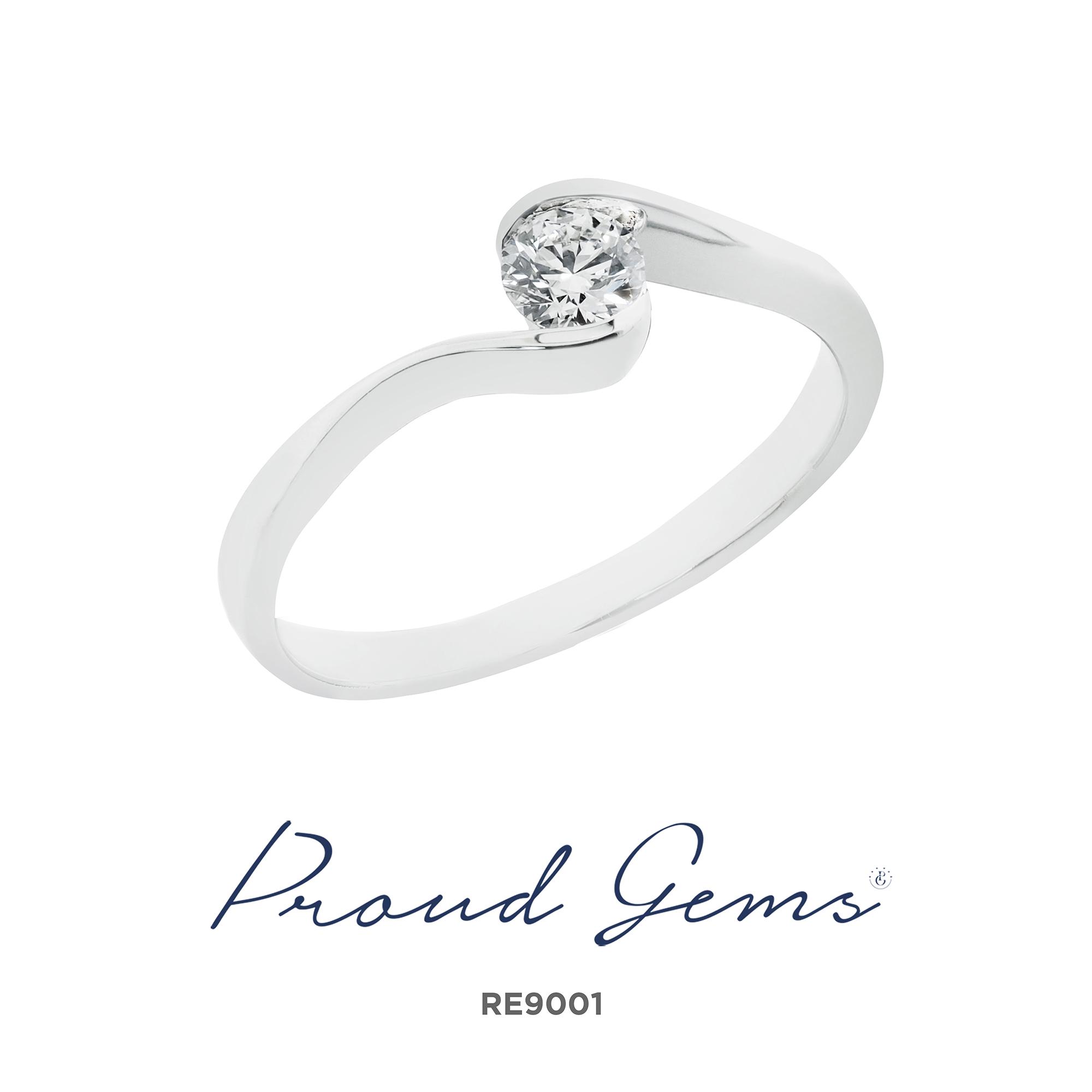 9001RE - แหวนหมั้นเพชร RE8990