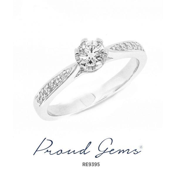 9395RE W 600x600 - แหวนหมั้นเพชร RE9395